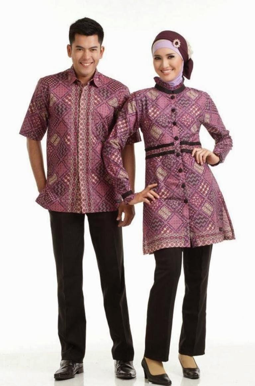 Baju Batik Couple untuk Pasangan Muslim (Sangat Serasi)