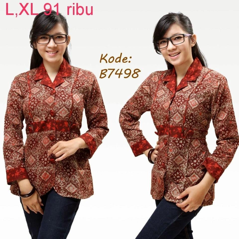 Baju Batik Kerja Wanita Sederhana