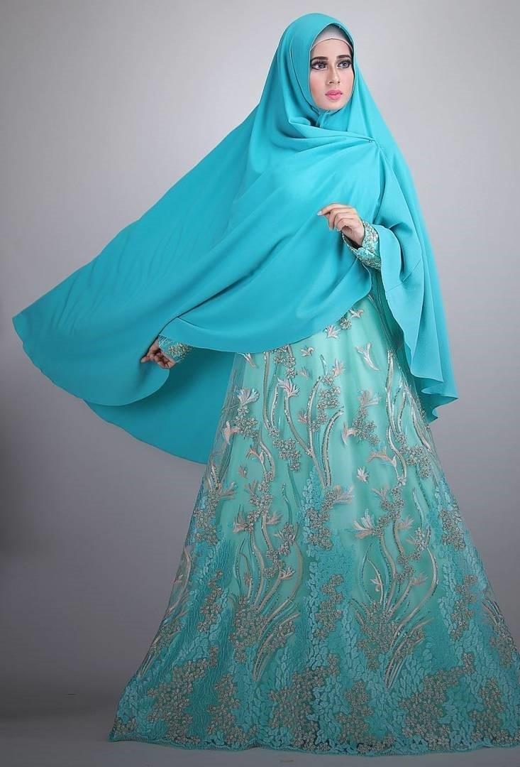 Baju Gamis Brokat untuk Wanita Syar'iah