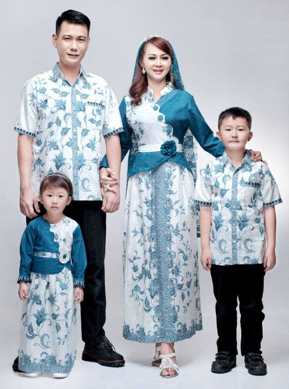 Model Baju Batik Keluarga untuk Lebaran