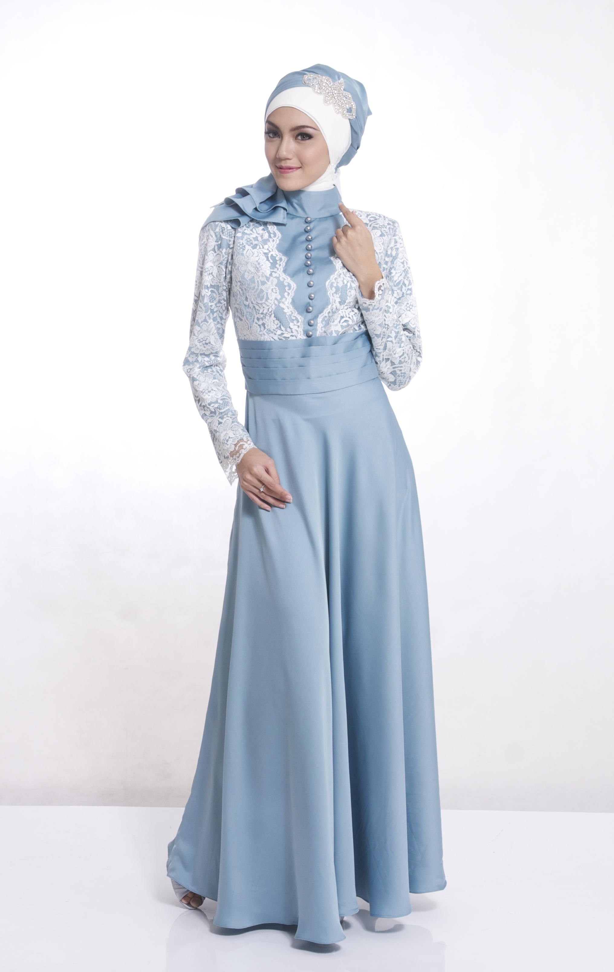 Model Baju Gamis Pesta Pernikahan Masa Kini