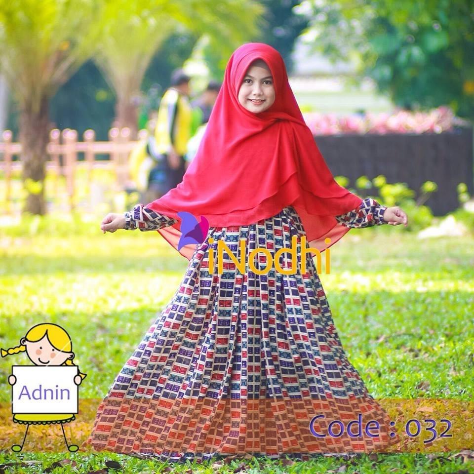 Model Baju Lebaran untuk Anak Perempuan dengan Dress Longgar