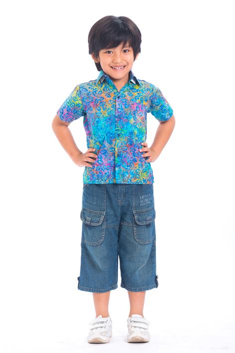 Baju Batik Modern untuk Anak Laki Laki 1-7 Tahun