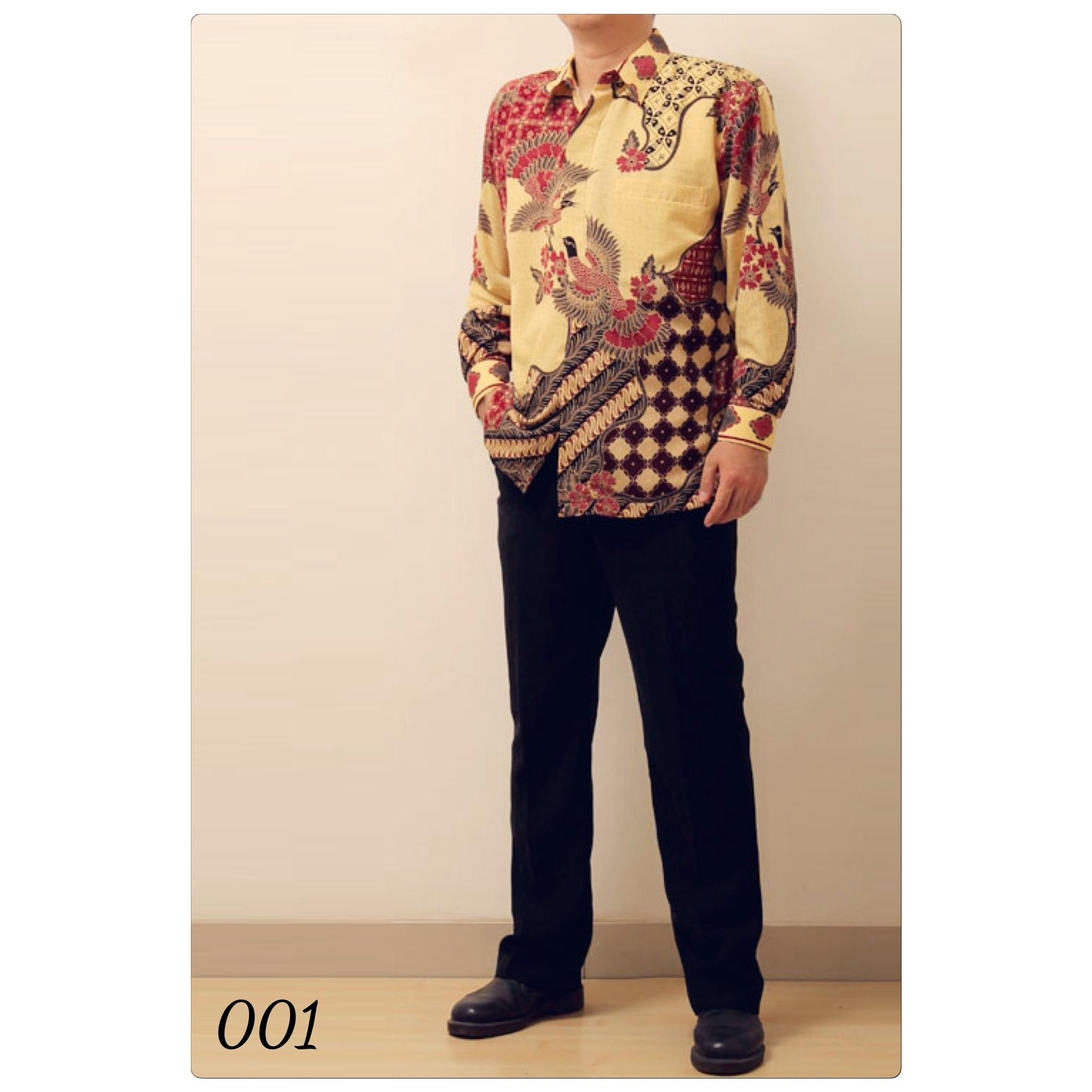 Baju Batik Lengan Panjang Pria Terbaru dengan Motif Tradisional