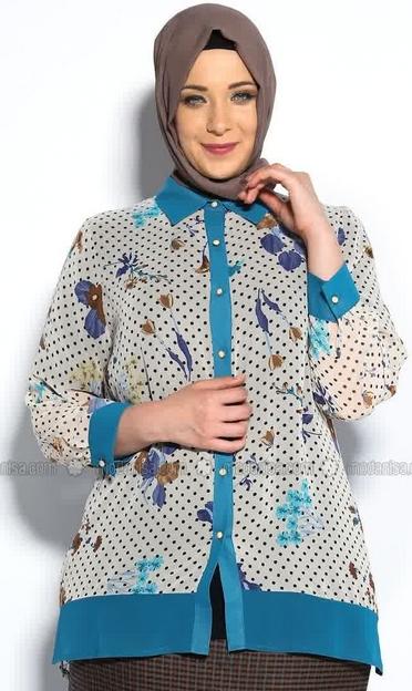 Baju Batik Muslimah untuk Wanita Gemuk