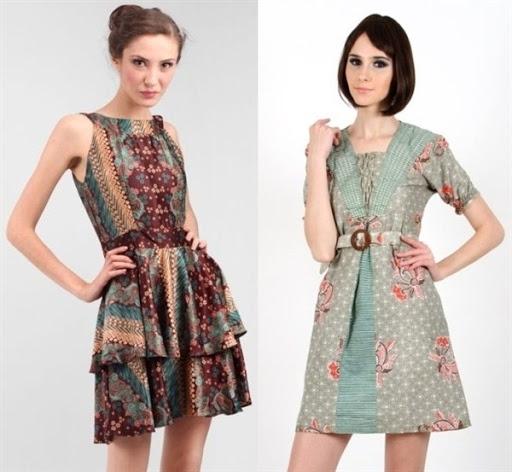 Baju Batik Pesta Motif Modern untuk Wanita Muda