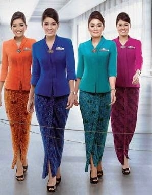 Baju Batik Pramugari dari Garuda Indonesia