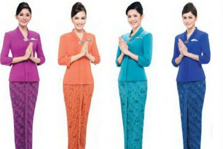 Contoh Baju Batik Pramugari dari Berbagai Maskapai