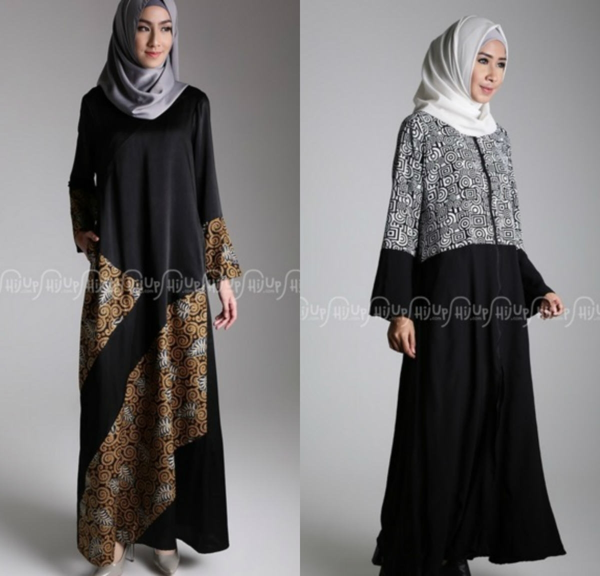 Dress Batik Muslim dengan Gaya Modern