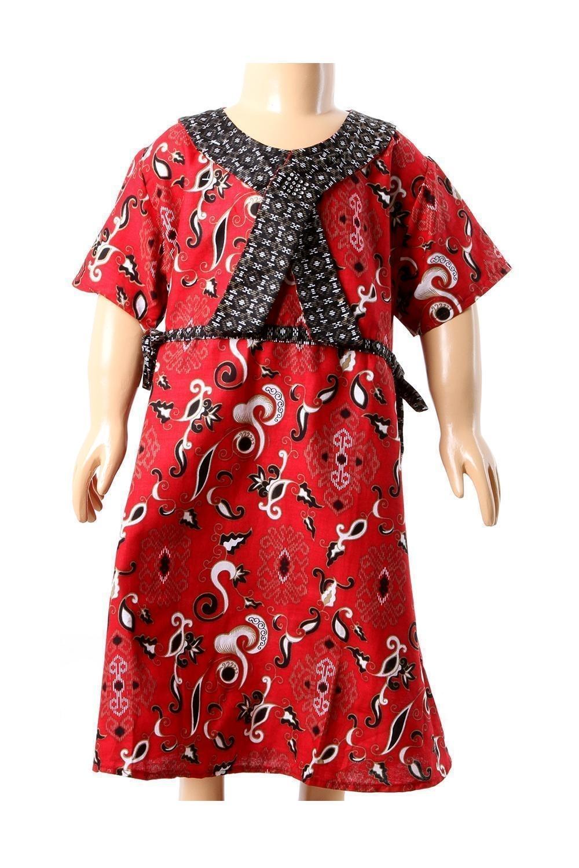 Dress Batik Panjang untuk Anak Perempuan