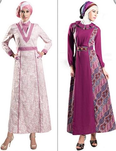 Gamis Batik Wanita Muslim Terbaru untuk Acara Pesta Pernikahan