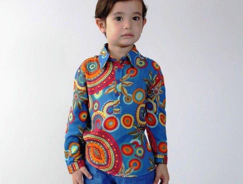 Kemeja Batik Lengan Panjang untuk Anak