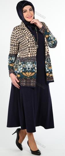 Kombinasi Baju Batik dengan Blazer untuk Wanita Gemuk saat Kerja