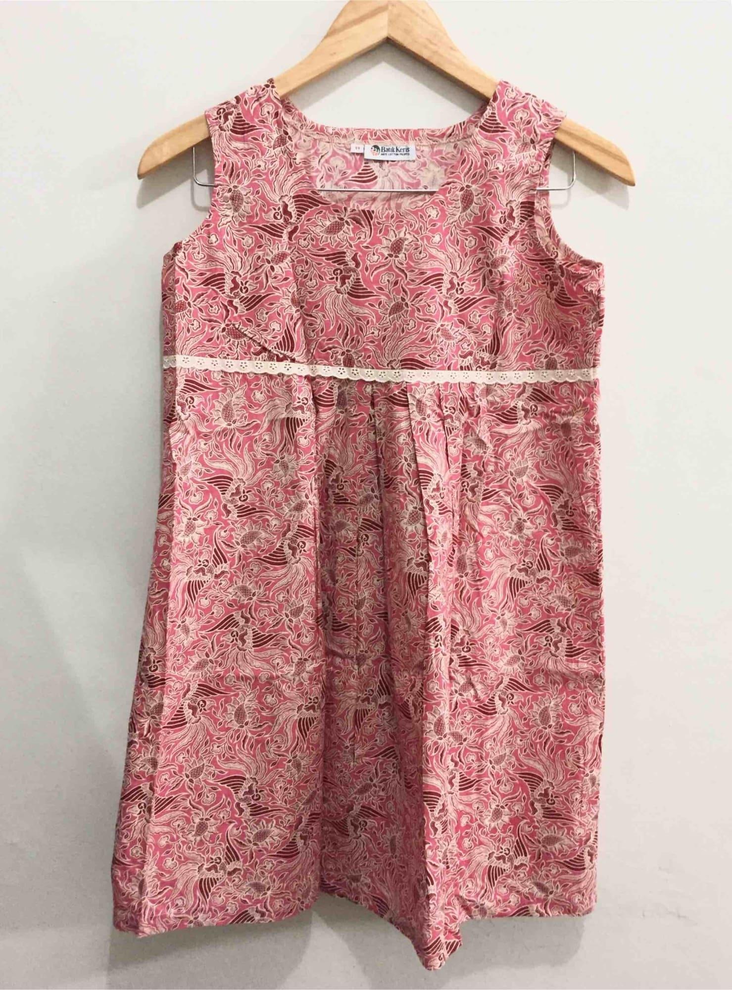 Model Baju Batik Anak Perempuan Tanpa Lengan
