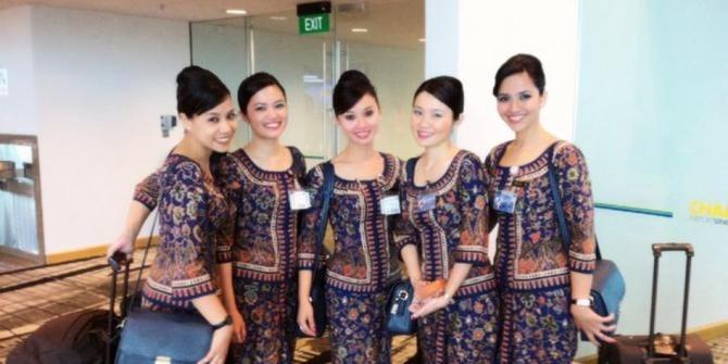 Model Baju Batik Pramugari Paling Modern Saat Ini