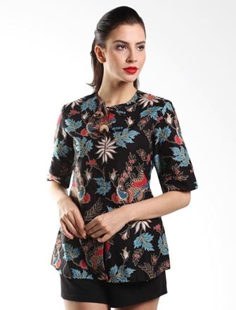 Model Baju Batik untuk Guru Perempuan Terbaru