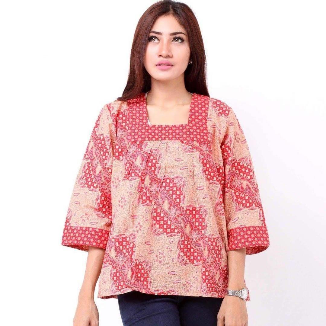 Model Baju Batik untuk Wanita Gendut Terbaru