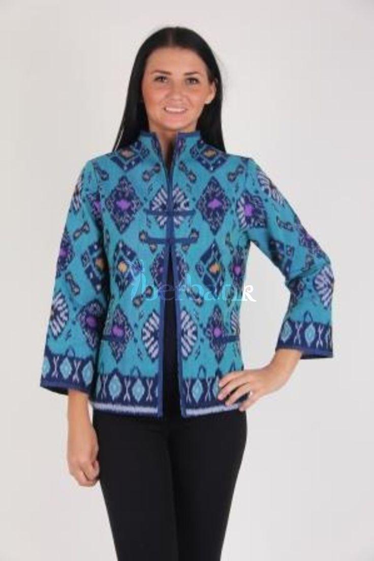 Model Baju Bolero Batik Lengan Panjang untuk Wanita Kerja di Kantor
