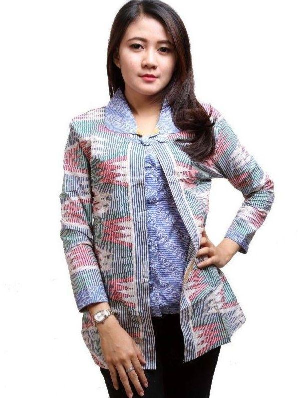 21 model baju batik guru wanita amp pria seragam modern
