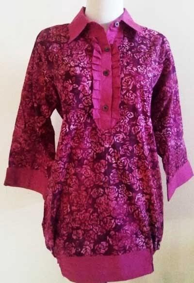 Model Baju Batik Atasan Kombinasi Terbaik