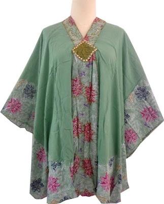 Model Baju Batik Atasan untuk Wanita Gemuk Lengan Pendek