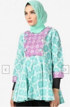 Model Baju Batik Atasan Wanita Lengan Panjang Paling Cantik