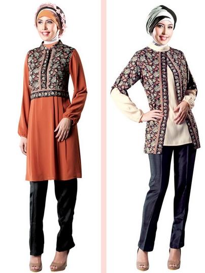 Model Baju Batik Atasan Wanita Lengan Panjang Terbaru Tahun Ini