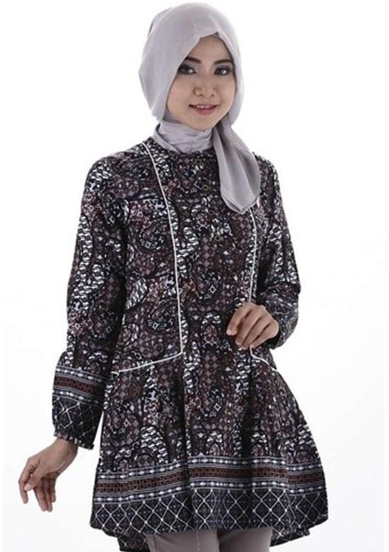 Model Baju Batik Atasan Wanita Lengan Panjang