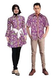Model Baju Batik Couple untuk Pasangan Muslim Paling Modern