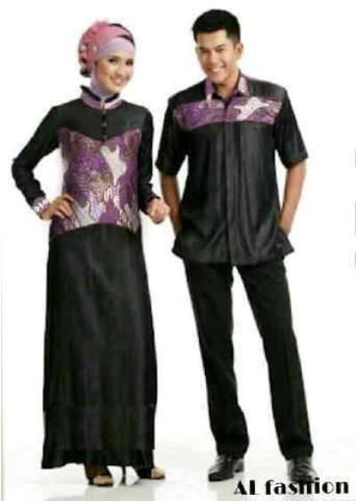 Model Baju Batik Couple untuk Pasangan Muslim Terbaru