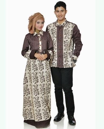 Model Baju Batik Couple untuk Pasangan Muslim Terpopuler Tahun Ini