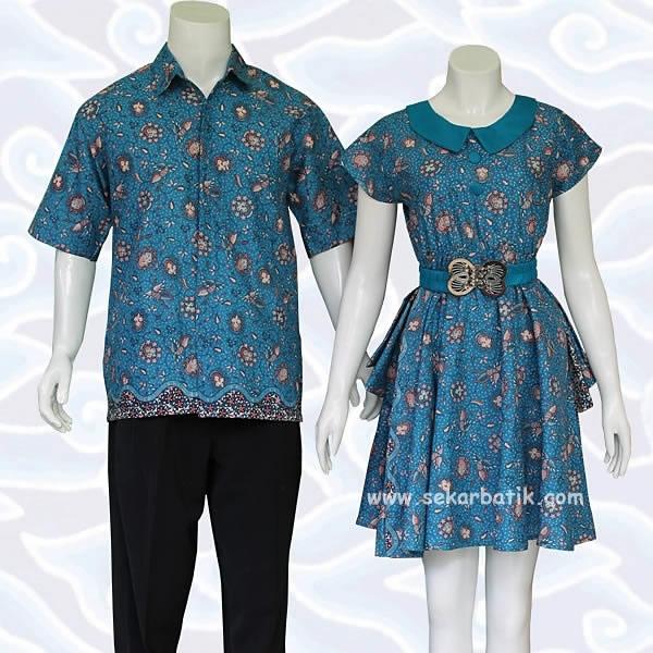 Model Baju Batik Couple untuk Pasangan Palin Kekinian