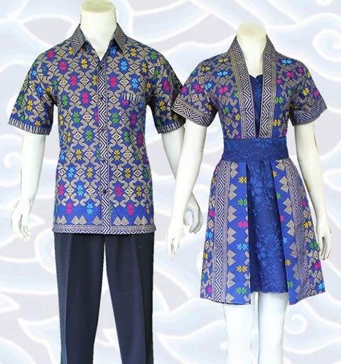 Model Baju Batik Couple untuk Pasangan Terkini