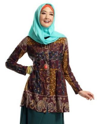 Model Baju Batik Kerja untuk Guru Wanita Terbaru