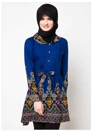 Model Baju Batik Kerja untuk Guru Wanita