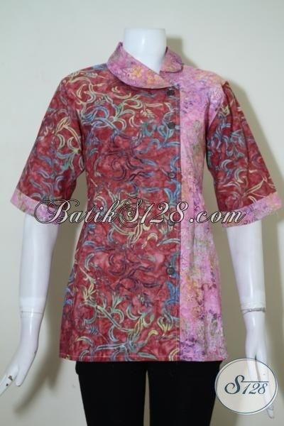 Model Baju Batik Kerja untuk Pegawai Bank Perempuan Tercantik
