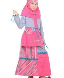 Model Baju Gamis Anak Perempuan Muslimah Umur 12 Tahun