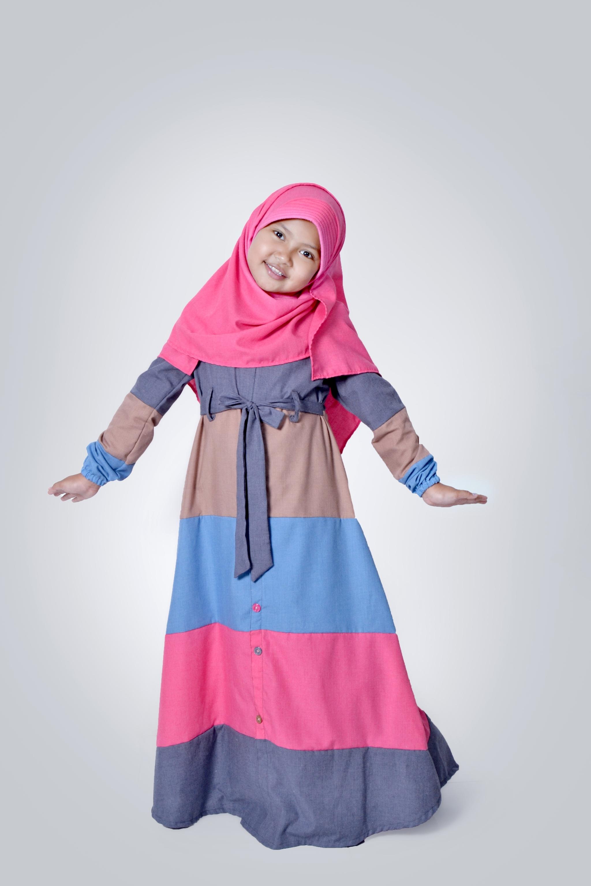 Model Baju Gamis Anak Perempuan Umur 12 Tahun Terbaik