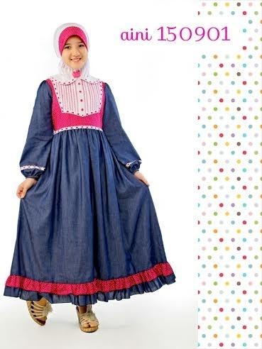 Model Baju Gamis Anak Perempuan Umur 12 Tahun Terkini