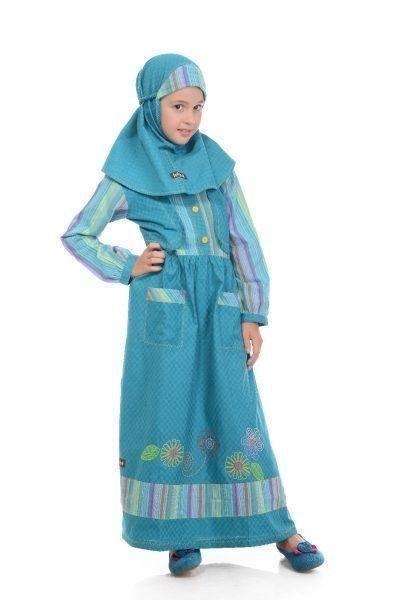 Model Baju Gamis Anak Perempuan Umur 12 Tahun untuk Mengaji