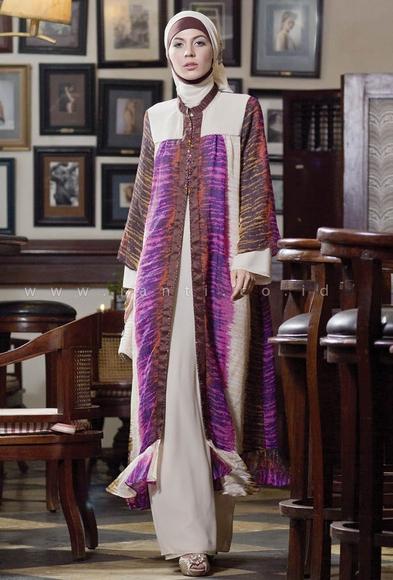 Model Baju Gamis Batik dengan Kombinasi Sifon Terbaik