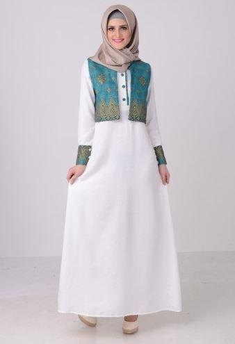 43+ Model Baju Gamis Batik Terbaru 2018! Kombinasi Modern ...