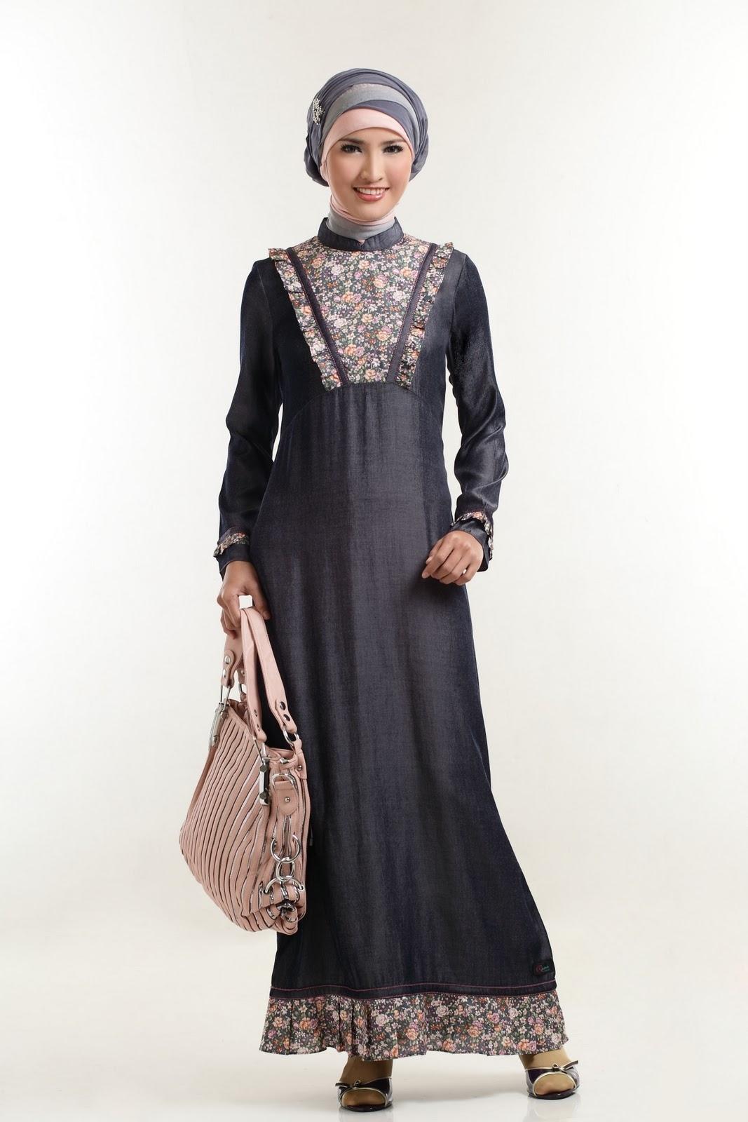 Model Baju Gamis Batik Kombinasi Polos untuk Ulang Tahun