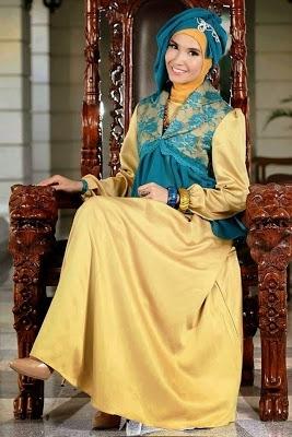 Model Baju Gamis Brokat Kombinasi Sifon untuk Wanita Muda