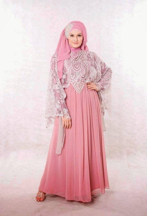Model Baju Gamis Sifon Kembang untuk Pesta Maupun Baju Lebaran