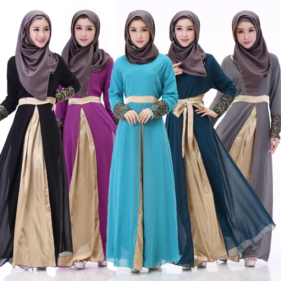 Model Baju Gamis Sifon Polos dengan Beragam Warna