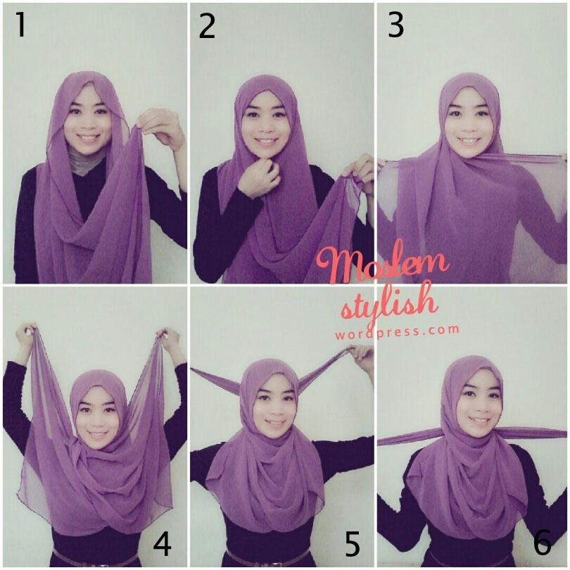 Tutorial Hijab Paris Simpel 1