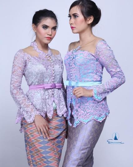 Model Kebaya Brokat Lengan Panjang Paling Elegan