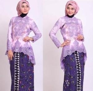 Model Kebaya Brokat untuk Wanita Muslim Saat Pesta
