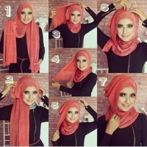 Tutorial Hijab Segi Empat untuk Pesta Pernikahan Modern